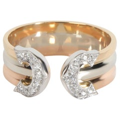 Cartier C de Cartier Diamond Band in 18K 3 Tone Gold 0.10 CTW