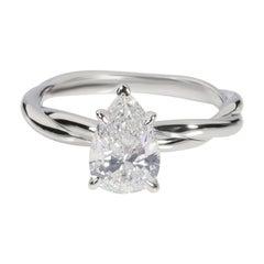 James Allen Diamond Solitaire Ring in 18K White Gold IGI Certified H VS2 1.27CTW