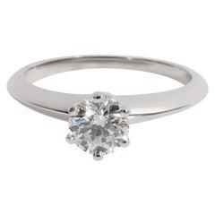 Tiffany & Co. Solitaire Diamond Engagement Ring in Platinum F VS2 0.65 CTW