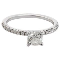 James Allen Flush Fit Petite Diamond Engagement Ring in 14K White Gold I SI2 0.8