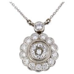 2.0 Carat Diamond Pendant Necklace