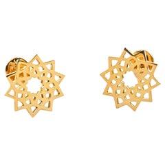 Arabesque Deco Earrings in 18kt Gold