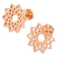 Arabesque Deco Earrings in 18kt Rose Gold