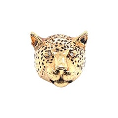 Yellow Gold Panther Cat Ring
