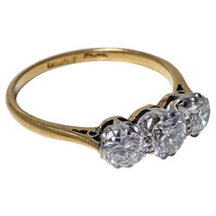 Antique 18K Platinum Diamond Ring, C.1920