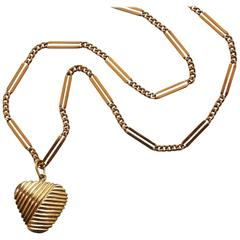 Van Cleef & Arpels Gold Heart Pendant and Chain