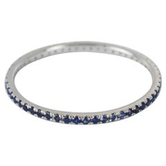 10k 14k 18k Solid Gold Natural Sapphire Ring Full Eternity Ring