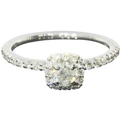 Classic Cushion Halo Diamond Gold Engagement Ring