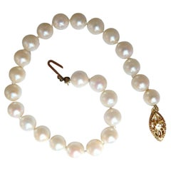 Akoya Pearls Pearl Bead Bracelet 14kt