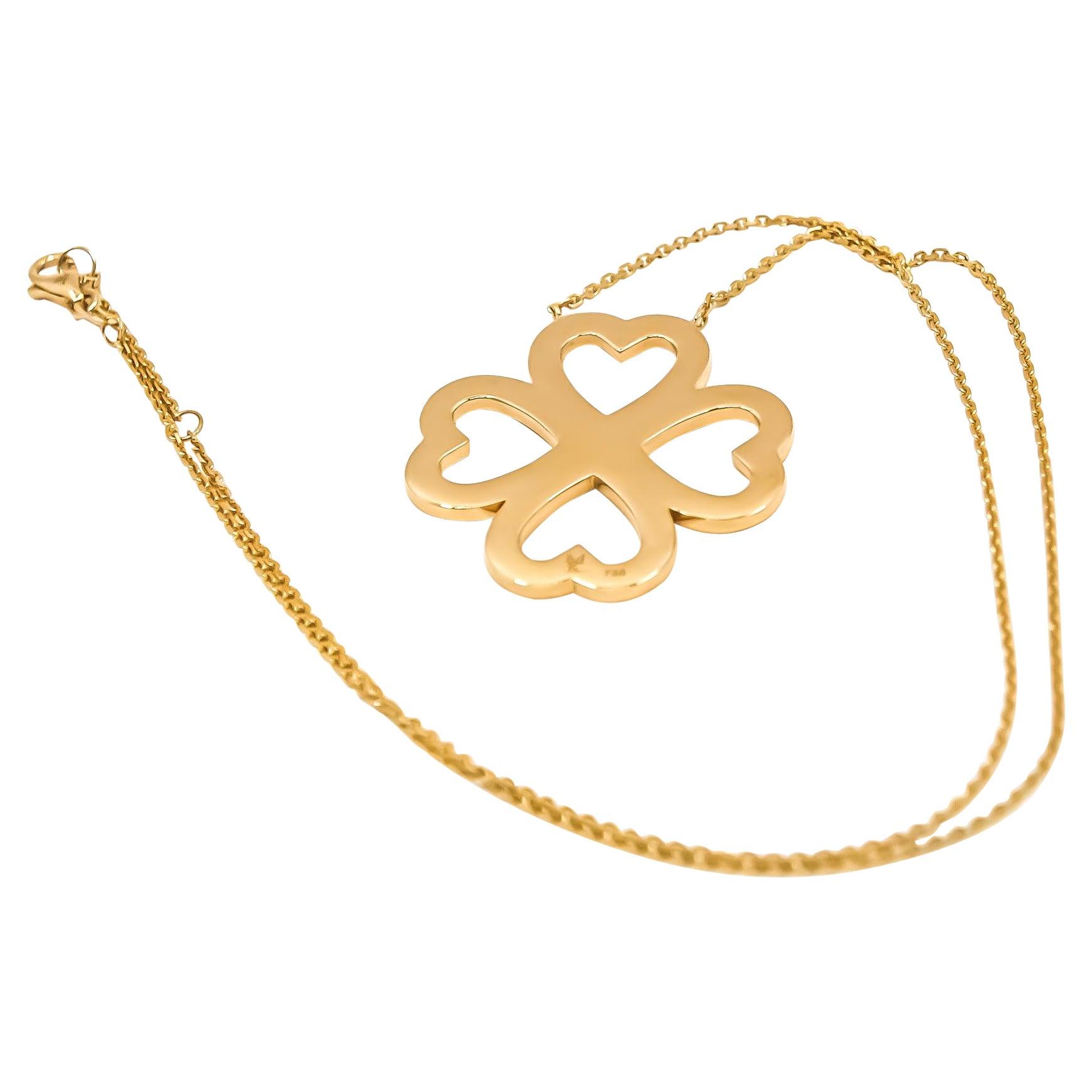 Heart Blossom Pendant in 18kt Gold