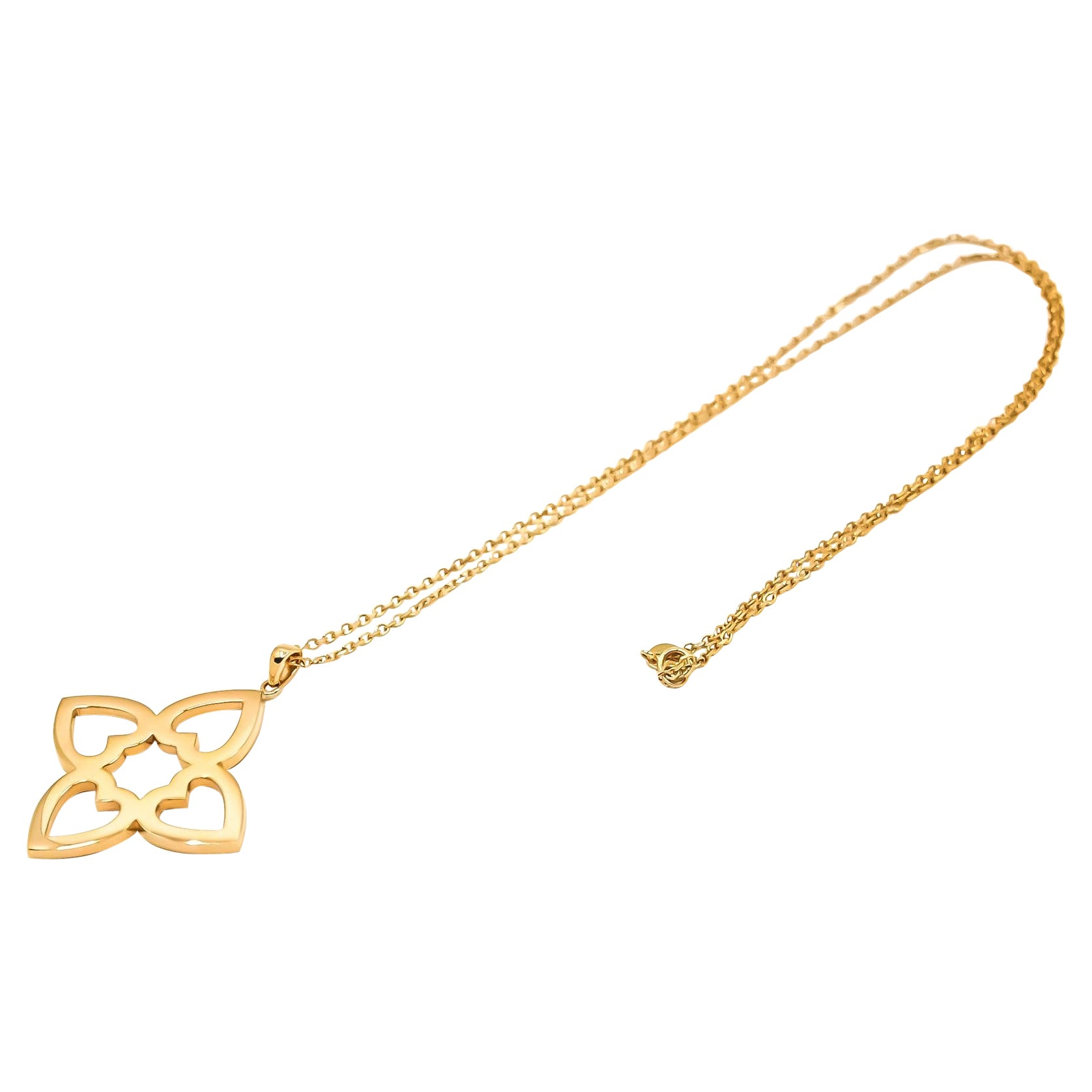 Connected Hearts Pendant in 18kt Gold