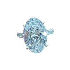 Flawless GIA Certified 3 Carat Oval Diamond Pave Ring