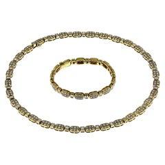 Boucheron Diamond Necklace and Bracelet Set