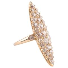 Old Cut Diamond Gold Ring