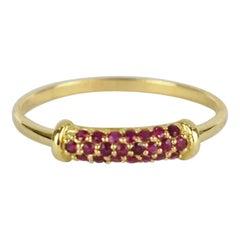 18K 14k 10K Solid Gold Ring Natural Ruby Cluster Ring July Birthstone Ring
