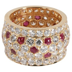 Cartier Nigeria Ruby Diamond Band in 18K Yellow Gold 3.13 CTW