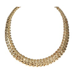Tiffany & Co. Vannerie Necklace in 18K Yellow Gold