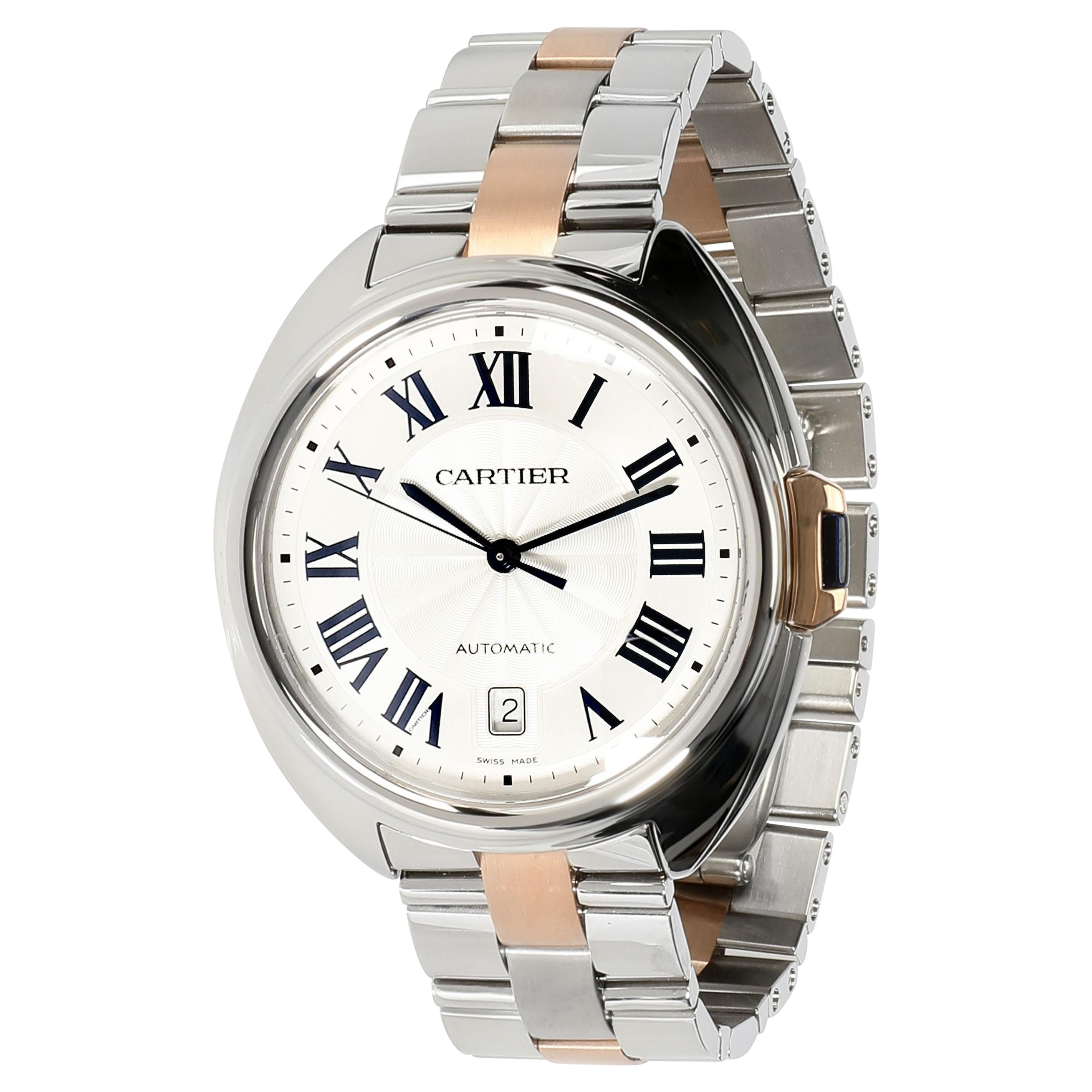 Cartier Cle de Cartier W2CL0002 Men's Watch in 18kt Stainless Steel/Rose Gold