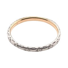 Antique 18K Two Toned Band