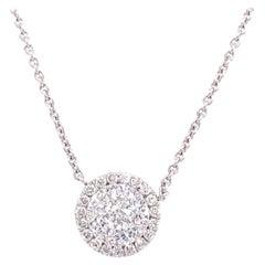 Pavee Diamond Pendant