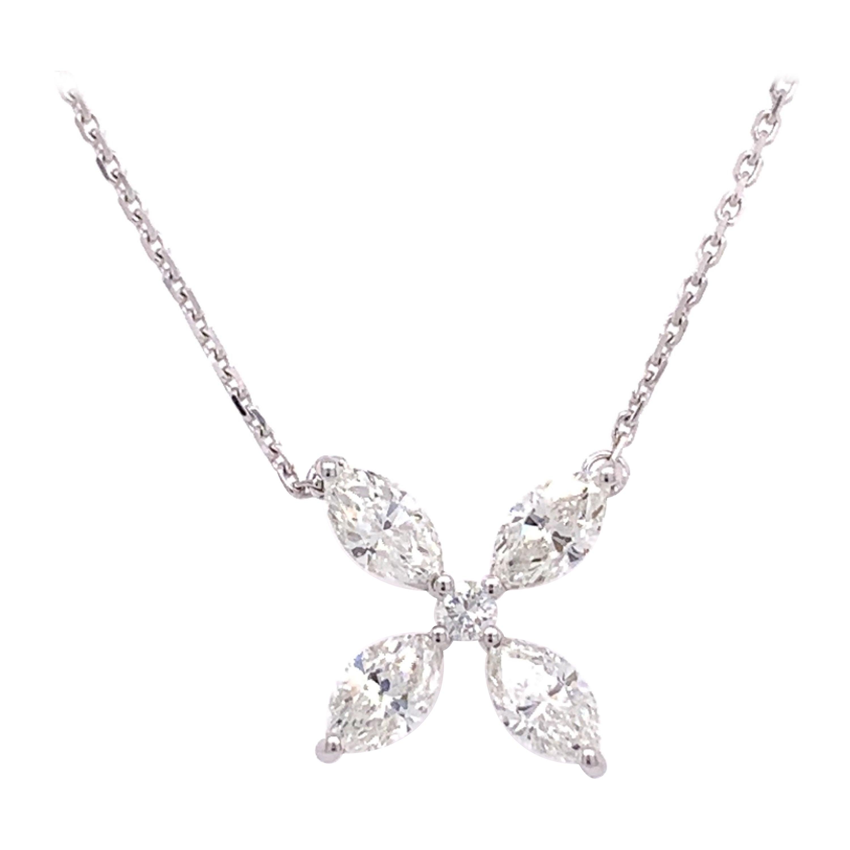 Modern Diamond Pendant Necklace