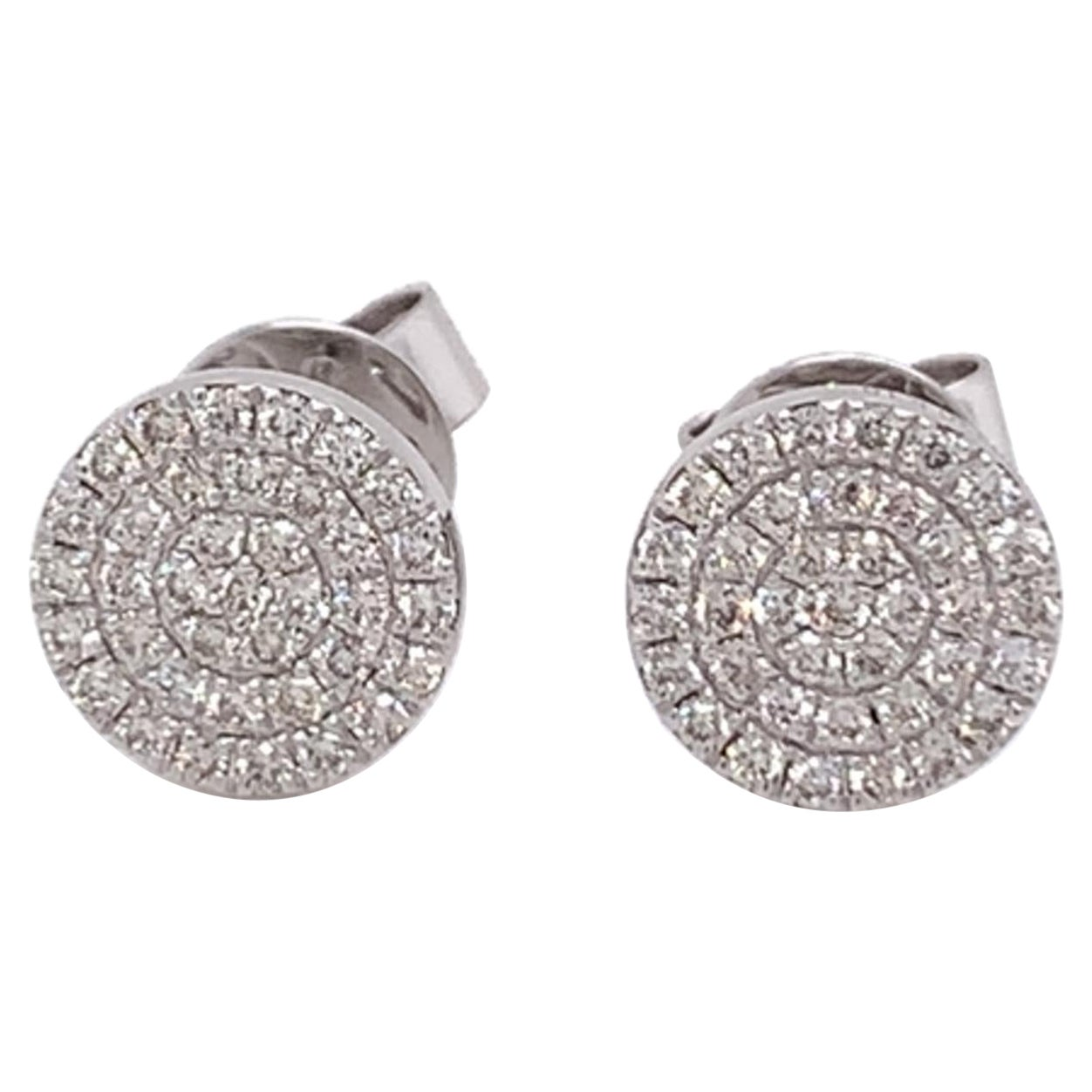 Diamond Pavee Stud Earrings