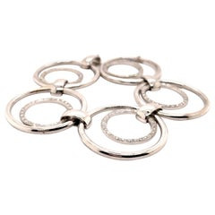 1.40ct Diamond Hoop Bracelet 18k White Gold