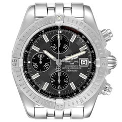 Breitling Chronomat Evolution Grey Dial Steel Mens Watch A13356 Box Papers