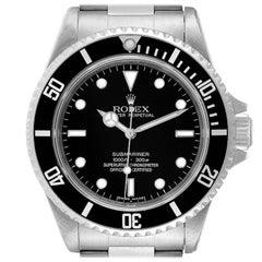 Rolex Submariner Non-Date 4 Liner Steel Mens Watch 14060 Unworn