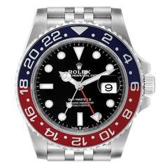 Rolex GMT Master II Pepsi Bezel Jubilee Steel Mens Watch 126710 Unworn