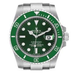 Rolex Submariner Hulk Green Dial Bezel Steel Mens Watch 116610