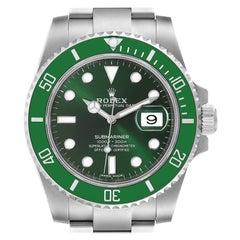 Rolex Submariner Hulk Green Dial Bezel Steel Mens Watch 116610 Box Card