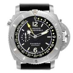 Panerai Luminor 1950 Submersible Depth Gauge Titanium Watch PAM00193 Box Card