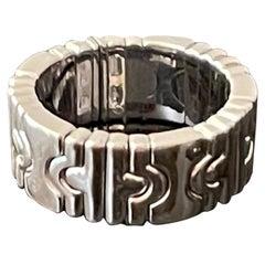 Bulgari 18 K White Gold Parentesi Band Ring