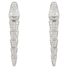 Bvlgari White Gold Diamond Serpenti Viper Earrings