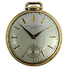 Gentleman's Art Deco Patek Philippe 18k Gold Pocket Watch Swiss Made