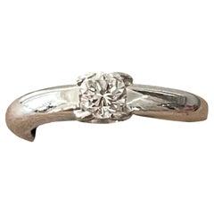 18 K White Gold Ellipse Ring Cartier