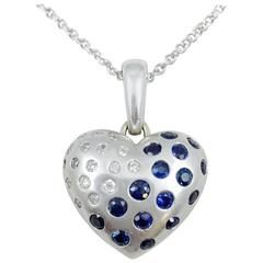Sapphire Diamond Gold Locket Necklace