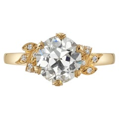 Handcrafted Allison Old European Cut Diamond Ring by Single Stone