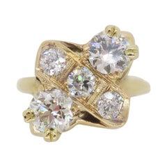 Moi-et-Toi Diamond Ring Made in 14k Yellow Gold