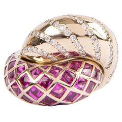 Vhernier Gray Gold and Rubies Ring