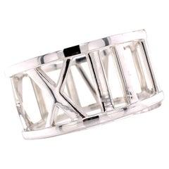 Tiffany & Co. Italy Atlas Sterling Silver Hinged Bangle Bracelet