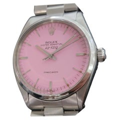 Mens Rolex Oyster Precision 1002 Air King Pink Dial Automatic 1970s RA172
