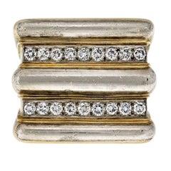 David Webb Gold Radiator Diamond Ring