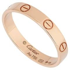 Cartier Rose Gold Plain Love Wedding Band B4085200