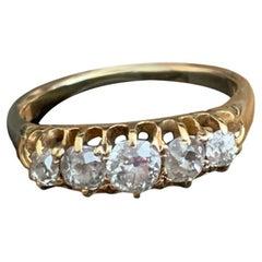 18ct Gold Victorian Old Mine Cut 0.7 Carat Diamond Ring