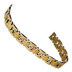 14 Karat Yellow Gold Ladies Fancy Link Bracelet, Italy
