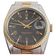 Mens Rolex Oyster Perpetual Date 1501 18k SS Automatic 1970s Swiss RA250