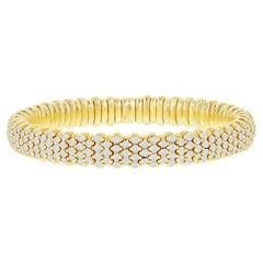 7.50 Carat Yellow Diamond Stretch Bangle