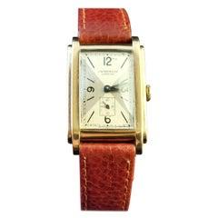 Vintage Gents Yellow Gold Wristwatch, J W Benson